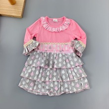 toddlers summer Baby Girls Outfits Infants and Children dresses Ruffles flower frocks for kids puff sleeve knee-length