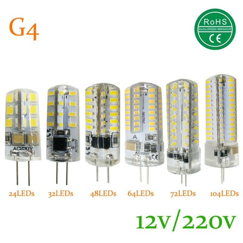 LED G4 Lamp Bulb 3014SMD 2835 SMD AC DC 12V 220V 3W 5W 6W LED Lighting Light Bulb replace Halogen G4 for Spotlight Chandelier 5pcs lot g4 led light bulb 6w g4 led capsule led spot light bulb lamp in crystal lighting lamp g4 led spotlight lamp ac dc 12v