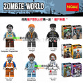 Decool 601-606 super heroes mini the walking dead zombie acción building blocks ladrillos diy juguetes para niños de regalo brinquedos