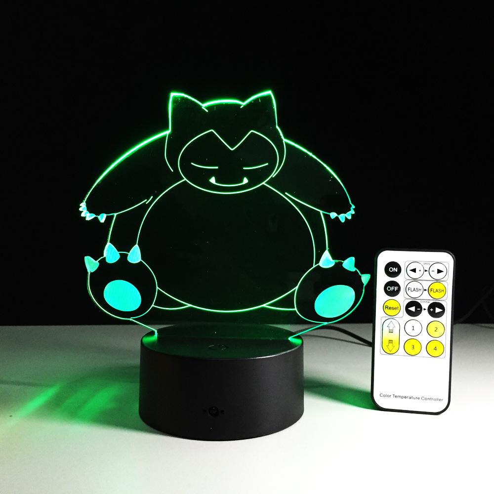 Creative Gifts pokemon Lamp 3D Night Light Robot USB Led Table Desk - Night Lights - Photo 3