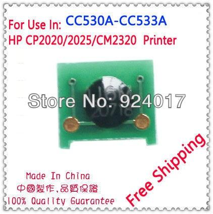 US $16 0 |Toner Chip For HP CC530A CC531A CC532A CC533A 304A ,For HP Color  Laserjet CP2020 CP2025 Printer,For HP CM2320 Toner Chip Reset-in Cartridge