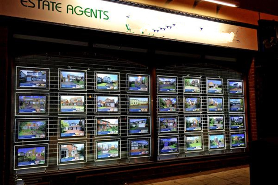 A4 Einseitig Kabel Draht Hängen Poster Display rahmen Immobilien LED ...
