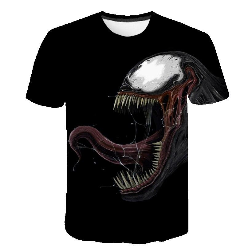 Новейшая футболка Веном с 3D принтом, футболка s для мужчин и женщин, Повседневная футболка с коротким рукавом для фитнеса, футболка Дэдпул, футболки с черепом, топы азиатского размера - Цвет: 1572