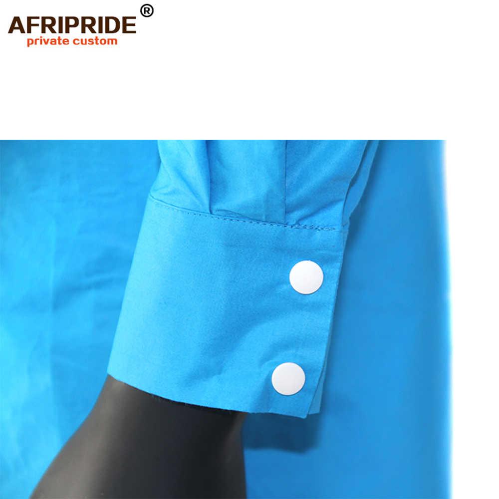 2019 春 & 秋のためアフリカセット男性 AFRIPRIDE テーラーメイドフルロングトップ + 長ズボンの男性のカジュアルセット A1816008