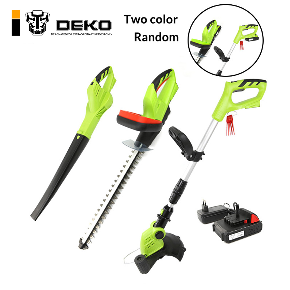 DEKO 3 In 1 20V 2000mAh Li-ion Battery Cordless Grass Trimmer Hedge Trimmer and Leaf Blower Garden Tool Set capa louis vuitton iphone x