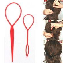 2 Pcs Fashion Topsy Tail Hair Braid Pony Tail Maker Styling Tool Salon
