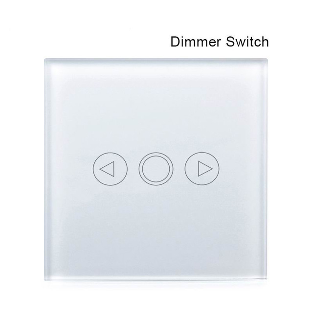 EU Standard Remote Touch Dimmer Switch+LED backlight, Smart Switch, 1Gang Tempered Crystal Panel Dimmer Light Switch smart home 1gang1way golden crystal glass panel eu standard remote touch dimmer switches led wall light dimmer remote switch