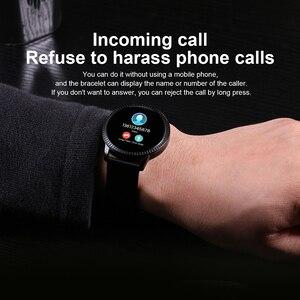 Image 4 - Elegante Smart Uhr Frauen 1,22 zoll Großen Bildschirm Wasserdichte IP67 Herz Rate Blutdruck Tracker Uhr für iPhone 7/Xiaomi