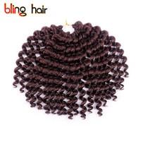 Bling Hair 10 Inch Crochet Braiding Kanekalon Twist Hair Bounce Wand Curl Jumpy Braids Synthetic Crochet