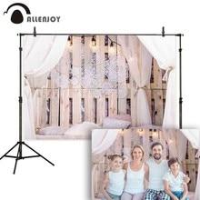 Allenjoy Boudoir การถ่ายภาพฉากหลังห้องนอน LOFT Dream Catcher Feather headboard พื้นหลัง photocall photophone Photo Studio
