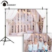 Allenjoy Boudoir Nhiếp Ảnh Backdrop Phòng Ngủ Loft Dream Catcher Lông Đầu Nền Photocall Photophone Studio Chụp Ảnh