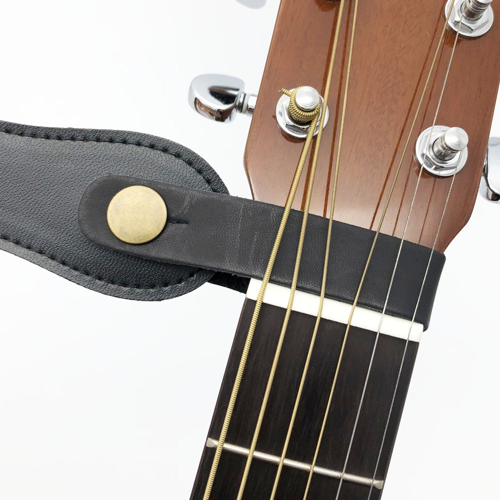 Butang pemegang tali gitar kulit kunci selamat untuk gitar klasik - Alat muzik - Foto 2