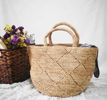 NEW Summer Straw Beach Bag Vintage Handmade Woven Shoulder Bag Raffia Circle Rattan Bags Bohemian Summer Vacation Casual Bags - DISCOUNT ITEM  30% OFF All Category