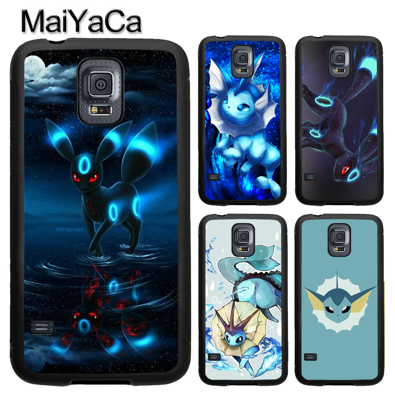 MaiYaCa Japanese Anime Pokemons Vaporeon Case For Samsung Calaxy S5 S6 S7 Edge Note 8 5 4 TPU Case For Samsung S8 S9 Plus Cover