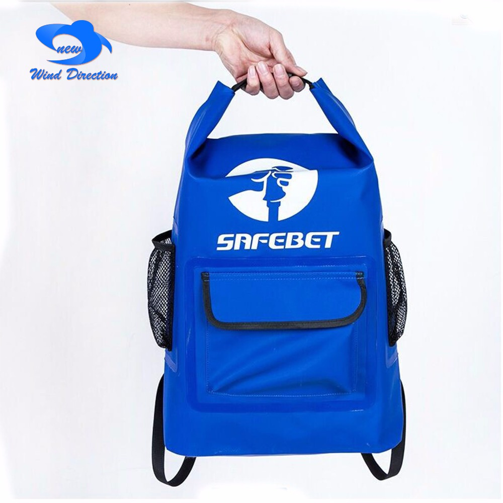 20L outdoor camping PVC waterproof backpack swimming upstream mountain  climbing bag camping surfing fishing drift isolation 5a97a65678b4c
