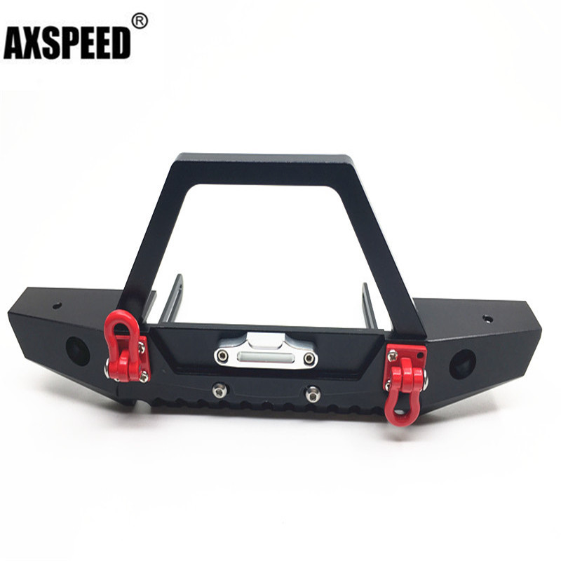 New arrive Front Bumper w/ Winch Mount Shackles For Axial SCX10 1/10 RC ROCK Crawler стоимость