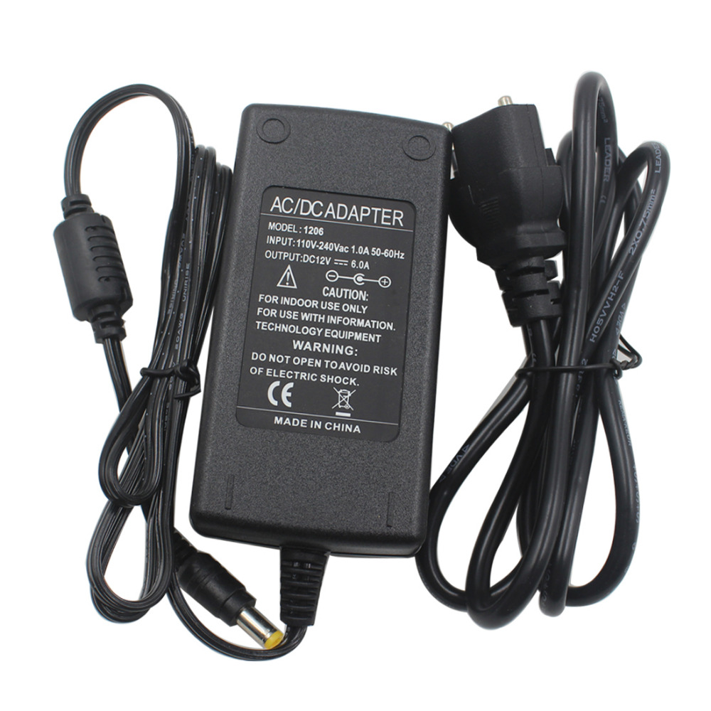 DC 12V 5A/6A/10A/13A/15A/20A Power Supply Adapter Charger Lighting LED Driver Switch Converter EU Adapters for LED Strip lighg