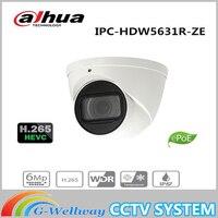 Dahua IPC HDW5631R ZE 6mp WDR IR Eyeball 2.7mm ~13.5mm varifocal motorized lens H.265 IR50M built in MIC IR Distance 50m IP67