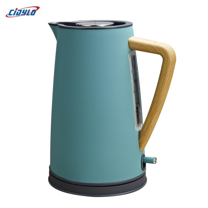 1.7L Электрический чайник из нержавеющей 220 В Авто Защита от отключения питания ручной мгновенный нагрев Электрический чайник