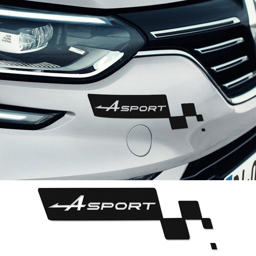 Front bumper decal car sticker sport flag for renault sport clio megane 3 twingo duster logan fluence captur laguna 2 latitude