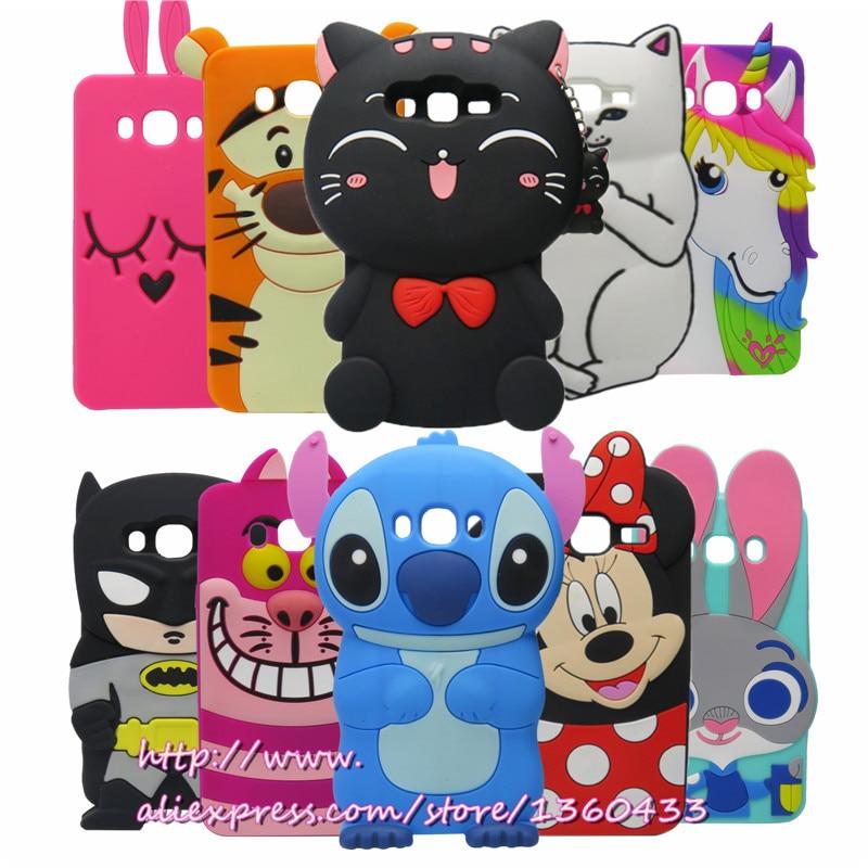 Galleria fotografica For Samsung J7 (2016) Cute 3D Silicon Minnie Unicorn Stitch Cupcake Cartoon Soft Back Cover Case for Samsung Galaxy J7 2016 J710