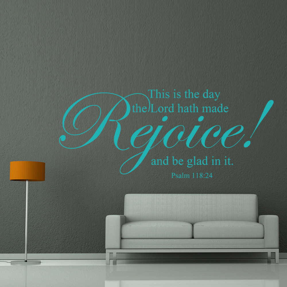 This is the day the lord hath made rejoice scripture wall words this is the day the lord hath made rejoice scripture wall words bible verse vinyl home decor 18 x 46 m in underwear from mother kids on aliexpress amipublicfo Gallery