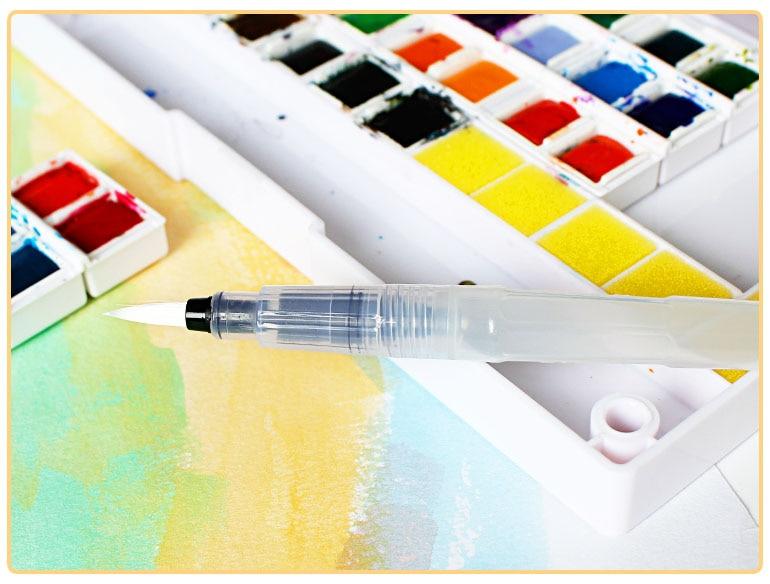 superior 12/18/24/30/36/40 barvy Pevné akvarelové barvy Polopenze - Školní a vzdělávací materiály - Fotografie 4