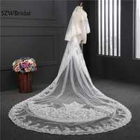New Arrival 3.5 Meter Bridal veil 2019 sluier wedding accessories Wedding veil edding veil with comb veu noiva