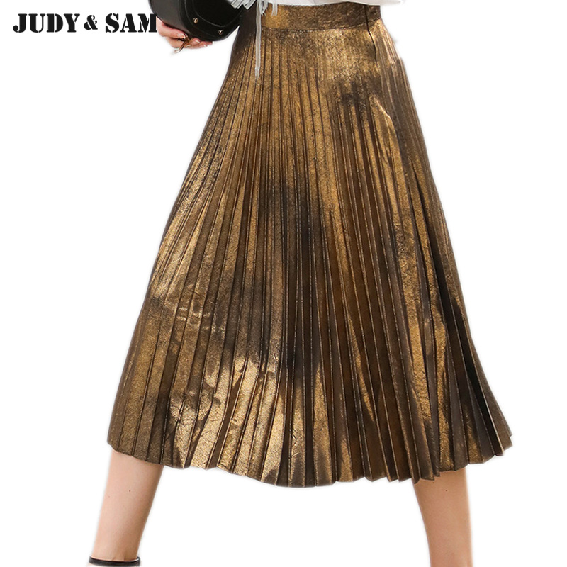 Pleat Gold Skirt Promotion-Shop for Promotional Pleat Gold Skirt ...