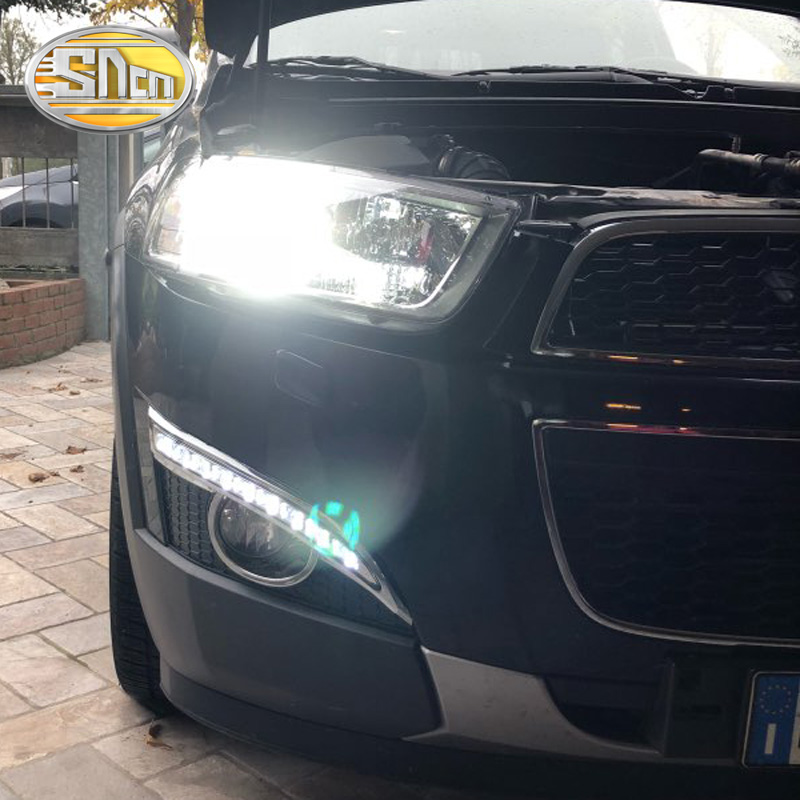 SNCN LED Daytime Running Light Untuk Chevrolet Captiva 2011 2012 2013 Aksesoris Mobil Waterproof ABS 12V DRL Fog Lamp Dekorasi
