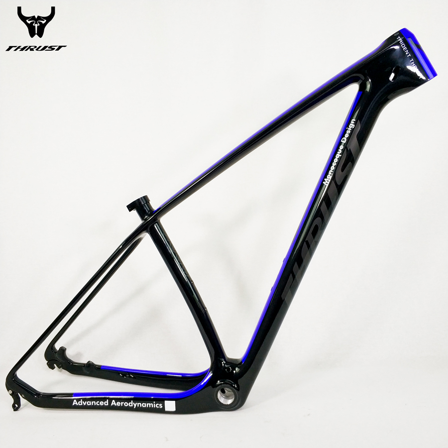 super light 29er 27 5er fat tire mountain bike new carbon frame through axle mtb frame THRUST Chinese Mountain Bike Frame 29er mtb Carbon Bicycle Frame 27.5er 15 17 19 with Thru Axle 142x12 Bicycle Parts 8 Colors