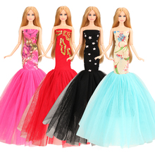 2019 newest fashion handmade high quality Princess multi colors mini outfit for barbie clothes and accessories girl best gift