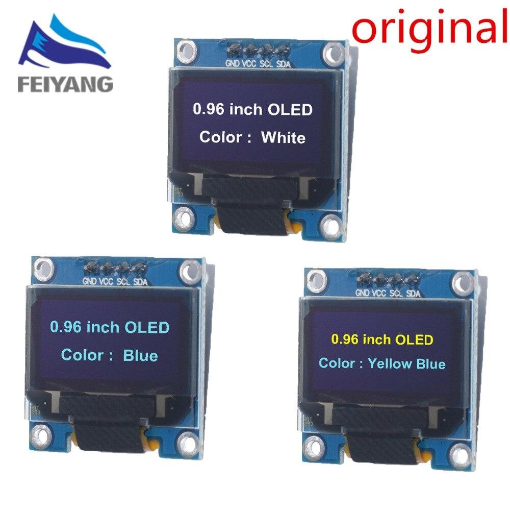 10pcs 0.96yellow blue/white/blue 0.96 inch OLED module 4pin 128X64 OLED LCD LED Display Module 0.96  IIC I2C Communicate10pcs 0.96yellow blue/white/blue 0.96 inch OLED module 4pin 128X64 OLED LCD LED Display Module 0.96  IIC I2C Communicate