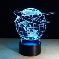 3D Tischlampe Led-nachtlicht Bunte Ändern USB Welt Karte Globus Fernbedienung Dekorative beleuchtung Urlaub Geschenke 2017 Neue