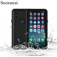 Waterproof Case For IPhone X Shockproof Phone Back Cover Transparent 360 Full Protection Outdoor Swimming And