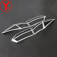 2014 2017 Tail Lights Covers For Toyota Corolla ALTIS E170 2014 2015 2016 Chrome Rear Lamp