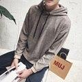 2016 Весной и осенью мужской моды случайные Кореи все матч сплошной цвет Тонкий простой XL тенденция хеджирования с капюшоном куртки