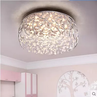 LED Dimmable moderne cristal plafonnier mode encastré cristal plafonniers décoration lampes pour salon Lustres