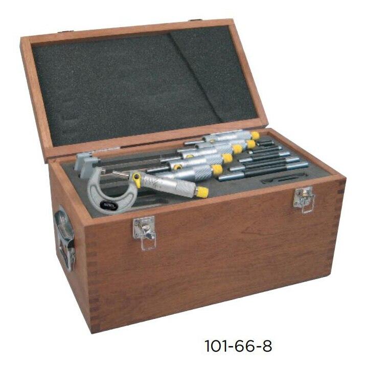 Faixa de Medição Conjunto de Micrometros Asimeto Polegadas 1-2 2-3 3-4 4-5 5-6 Graduação. 0001 Exteriores 0-6 0-1 –