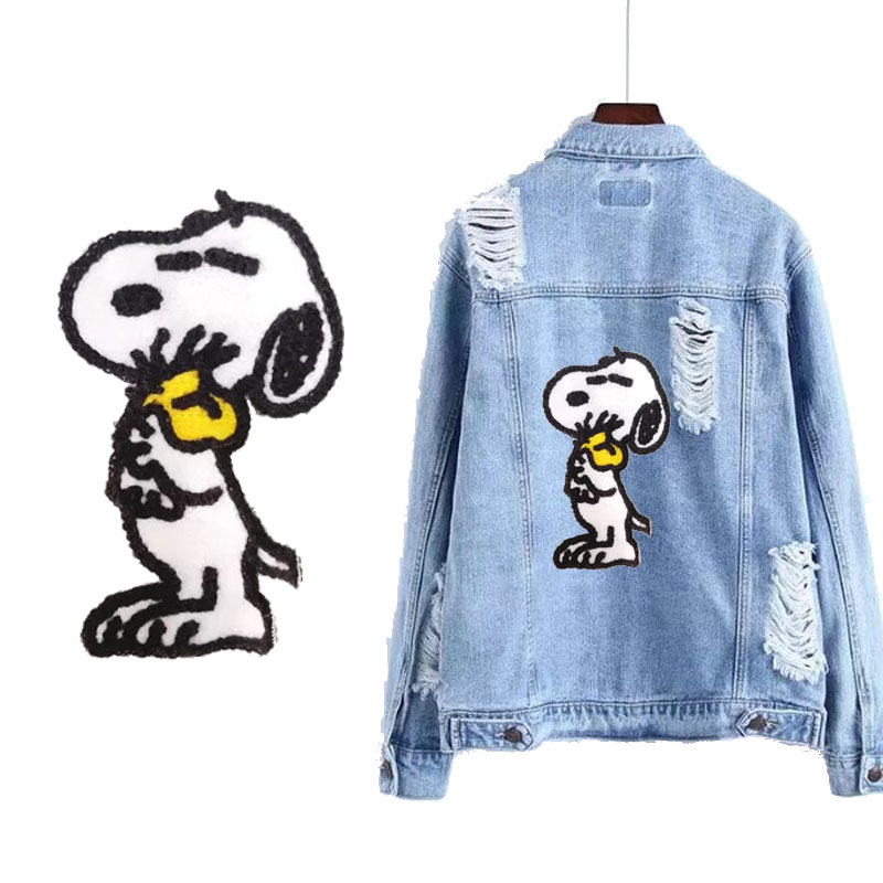 Cartoon puppyDog Towel Embroidery Patch Dog Patch Badge children 39 s clothing accessories decoration DIY Decoration Jacket Luggage in Patches from Home amp Garden