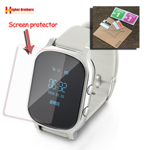 лучшая цена YH Glass Screen Film Protector for T58 Baby Kids Child elder Smart Watch Q50 T58 Y3 Smartwatch Glass Screen Film Protector