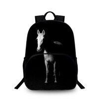 BAOBEIKU 2017 New 3D Backpack Women Backpacks Fashion Ship Horse Pattern Creative Travel Bags For Teenagers