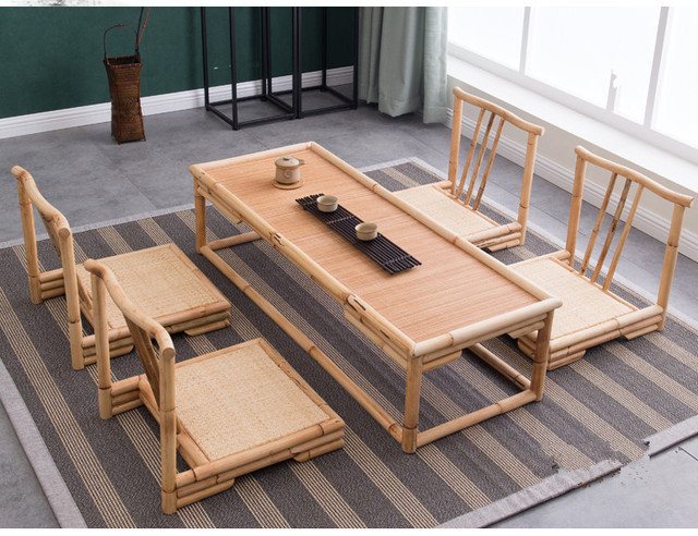 5pcs/set) Modern Bamboo Furniture Sets Floor Table Japanese Style ...