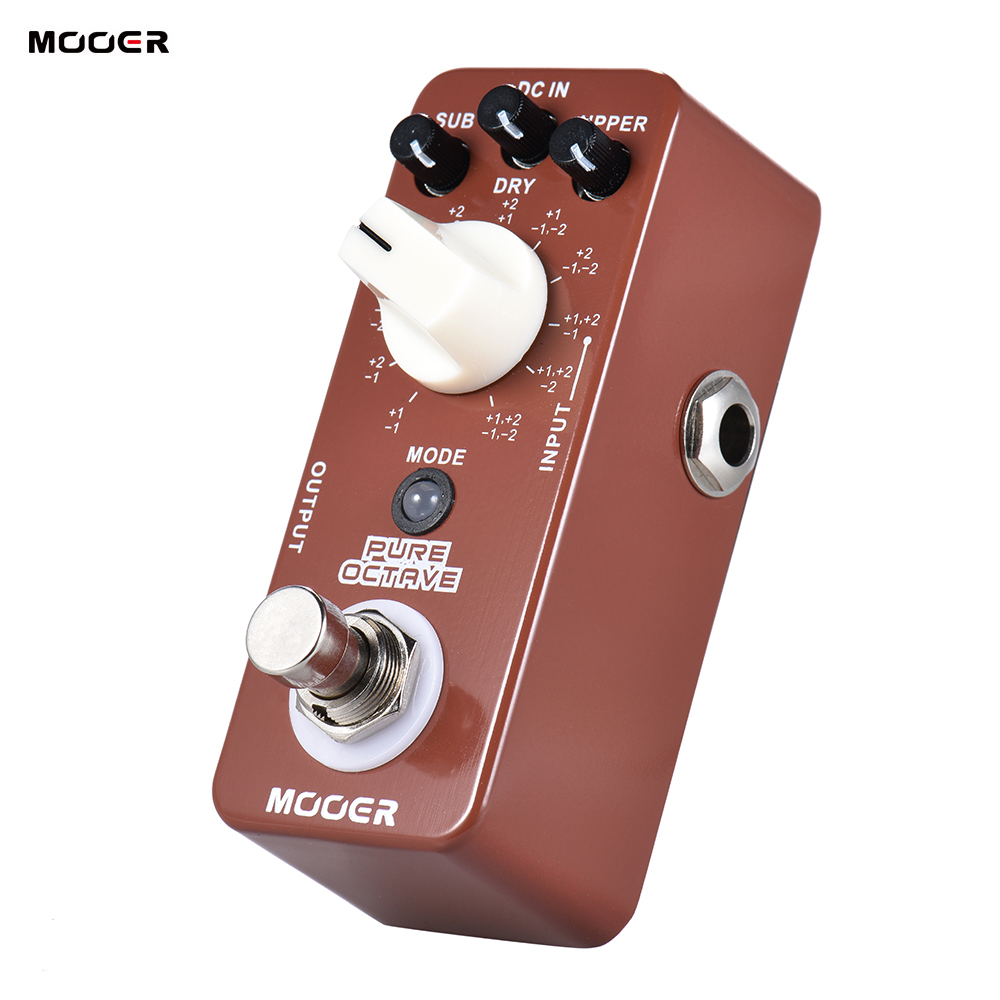 mooer pure octave mini octave guitar effect pedal 11 octave modes true bypass full metal shell. Black Bedroom Furniture Sets. Home Design Ideas