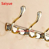 3pcs gold various type carving pattern New arrival Bathroom Accessories European zinc alloy Robe Hook ,Clothes Hook,Coat Hook