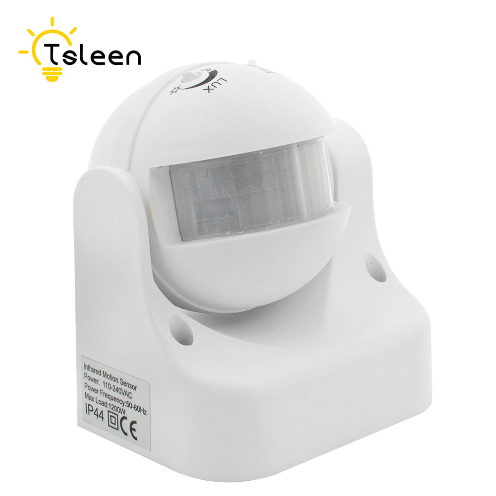 AC 110-220V 180 Degree Outdoor PIR Infrared Motion Sensor Switch Detector Movement Motion Sensor Light Switch for LED Light lamp xsav11801 inductive proximity switch speed sensor motion rotate detector 0 10mm dc ac 24 240v 2 wire 30mm replace telemecanique