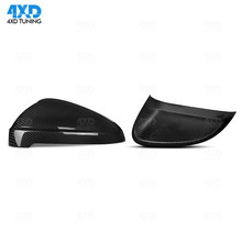 все цены на A4 B9 Dry Carbon Fiber Mirror Cover For Audi RS5 S4 A5 S5 RS4 Side Rear View mirror case sticker accessories 2016 2017 2018 2019