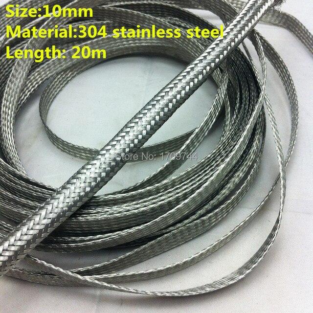 10 MM 20 mt edelstahl geflochtene draht und kabel schutzhülle schild ...