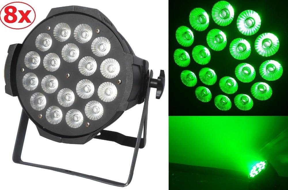 8xLot Free shipping 18X15W RGBWA 5in1 Led Par Can Professional Lighting Indoor Dmx Spotlights Stage Lights DJ Equipment Par Led