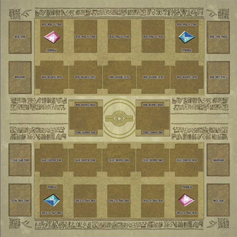 60x60cm Rubber Play Mat Egypt Mural Style Competition Pad For Yu-gi-oh Card  Game Collection Card Gift Cards For Boys D4